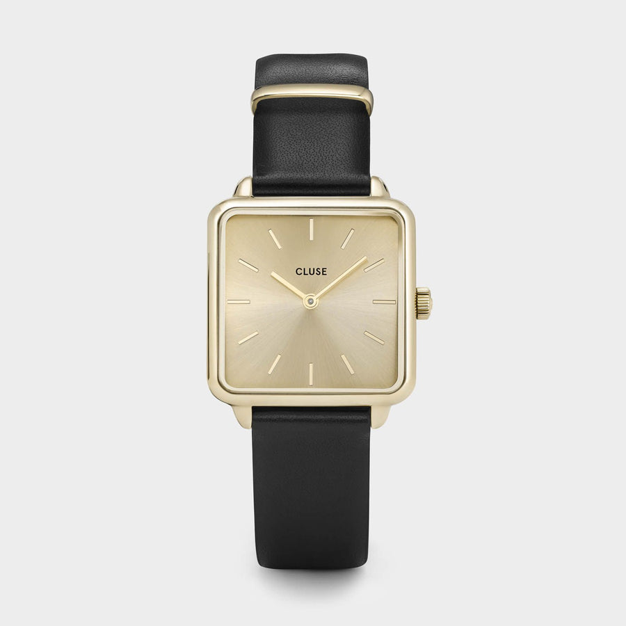 CLUSE La Tétragone Gold Gold/Black CL60004 - watch