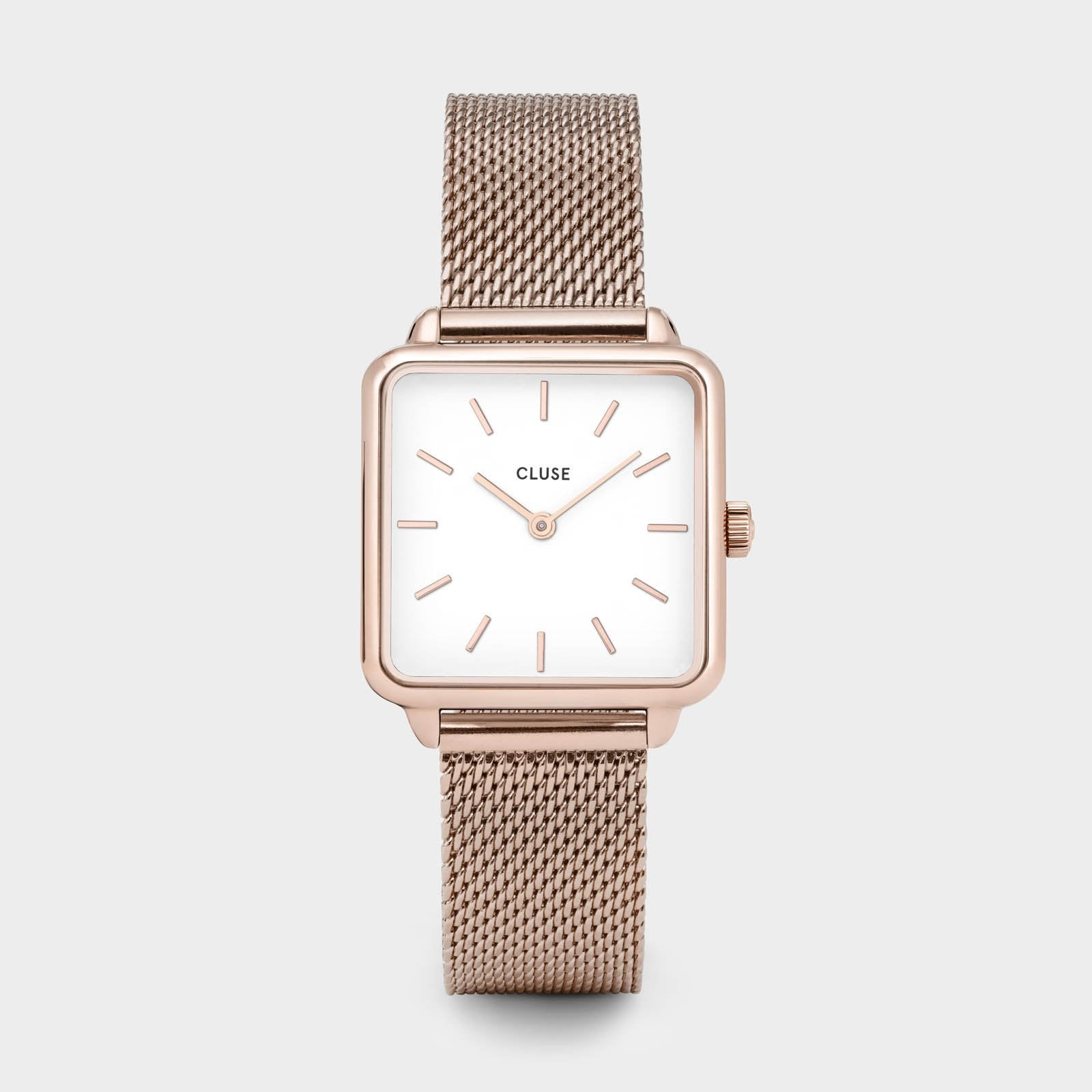 CLUSE La Tétragone Rose Gold Mesh/White CL60003 - watch