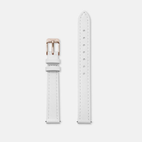 Image: CLUSE 12 mm Strap White/Rose Gold CLS525 - strap