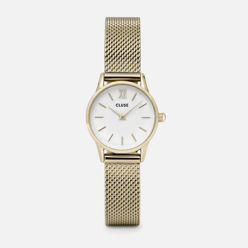 Image: CLUSE La Vedette Mesh Gold/White CL50007 - watch