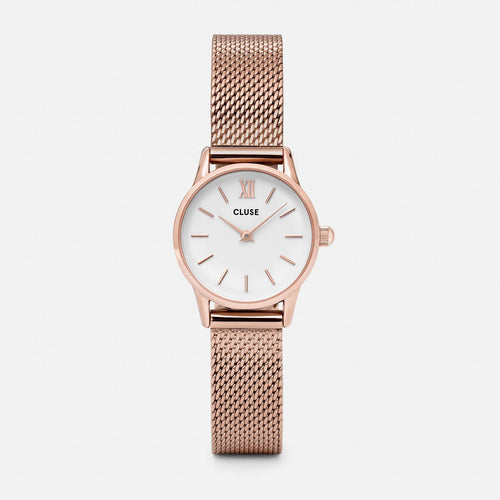 Image: CLUSE La Vedette Mesh Rose Gold/White CL50006 - watch