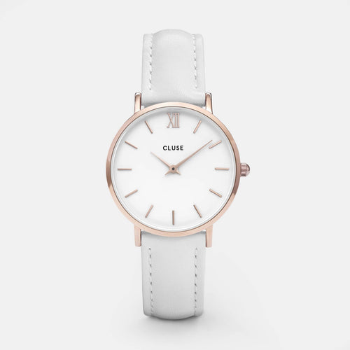 Image: CLUSE Minuit Rose Gold White/White CL30056 - watch