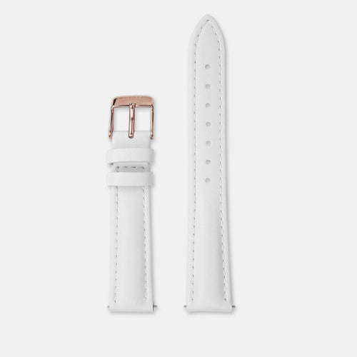 Image: CLUSE 16 mm Strap White/Rose Gold CLS377 - strap