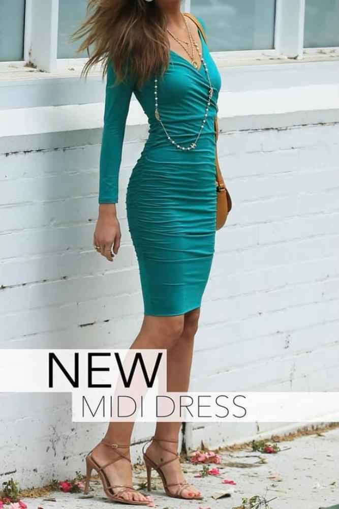 Casey Dress Emerald