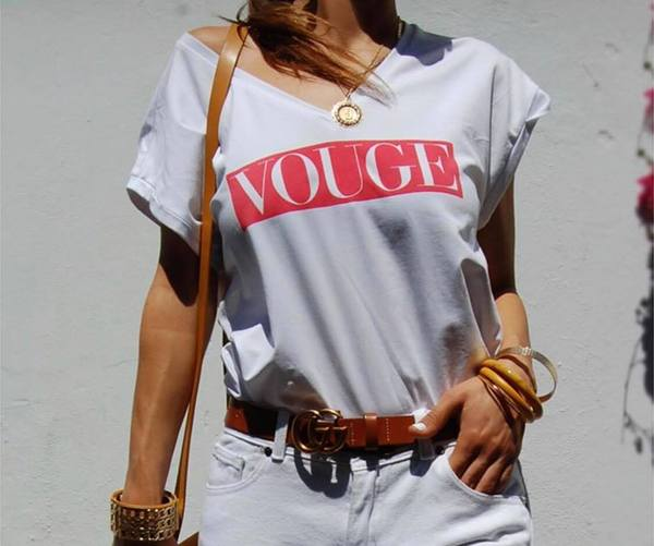 VOUGE Tee (White & Red)