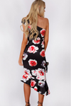 Willow Midi Dress (Black Floral Print)