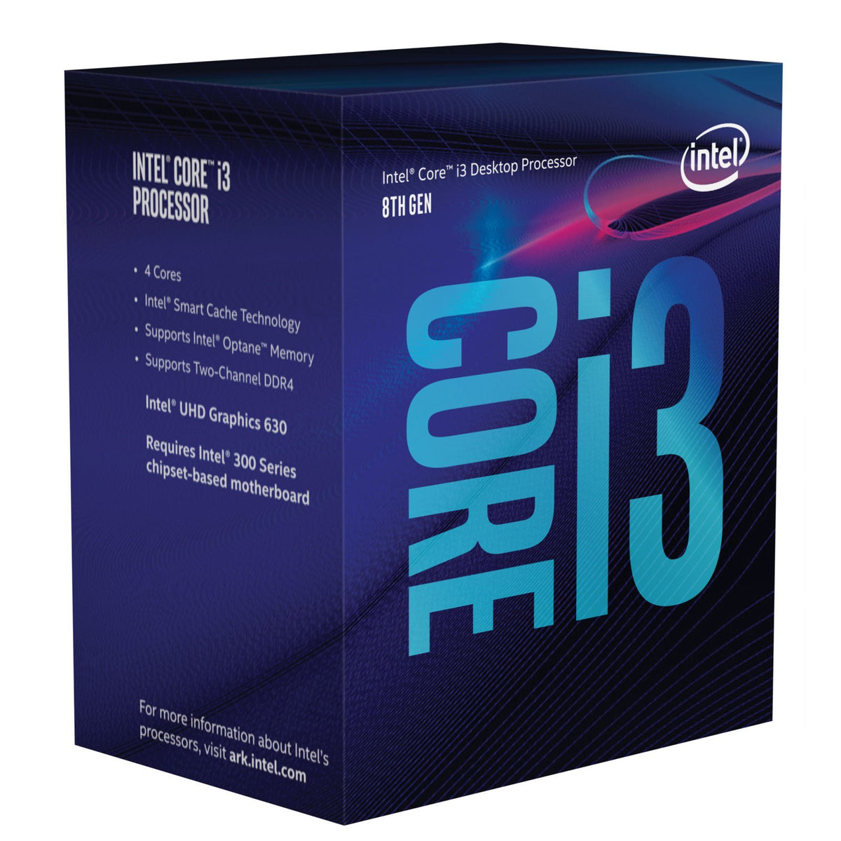 Intel® Core™ i3-8100 Processor (6MB SmartCache, 3.60 GHz, 8th Gen) -