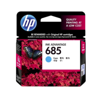HP 685 Cyan Cartridge