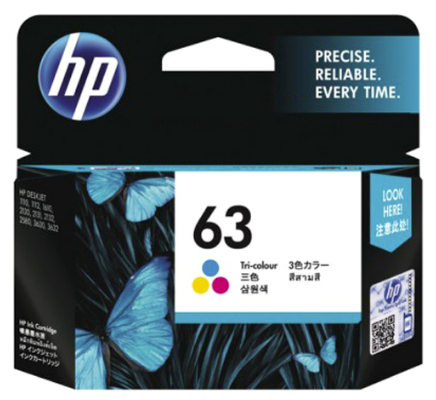 HP (63) Colour F6U61AA Cartridge