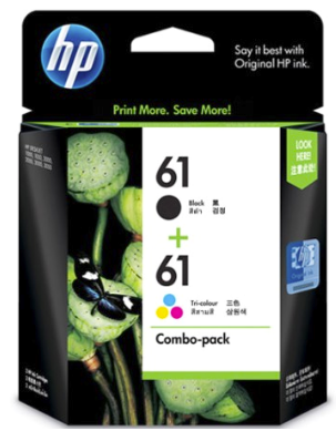 HP (61)Black+ColourCombo Cartridge