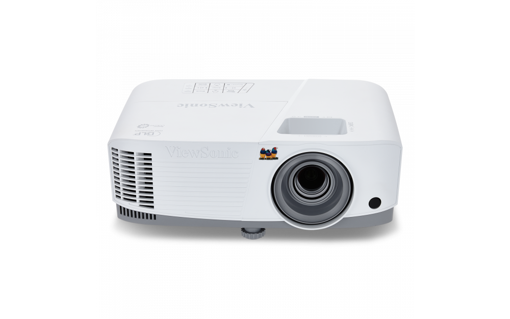ViewSonic PG703X projector features 4,000 lumens, XGA 1024x768 native resolution, an intuitive, user-friendly design, and a sleek white chassis