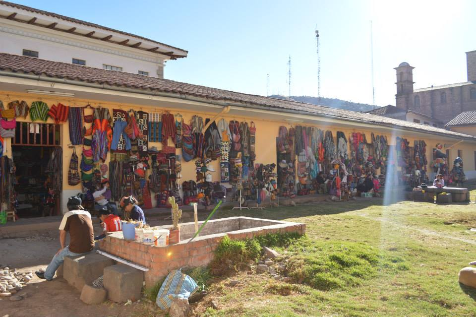 Cusco markets, backpacking in South America