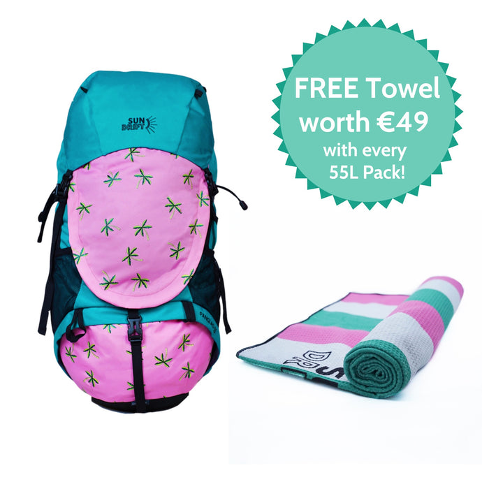 55L Pack + FREE Quick-Dry Towel