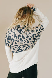Hudson Leopard Cowl Neck Sweater-Shiying-Cute-Womens-Boutique-Clothing-Shop-Emporium B
