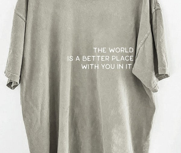 The World is a Better Place Graphic Tee-oat collective-Cute-Womens-Boutique-Clothing-Shop-Emporium B