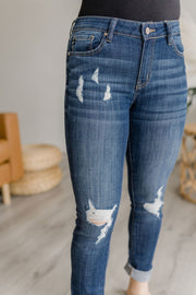 Carrie Mid Rise Distressed KanCan Skinny Jeans-KanCan-Cute-Womens-Boutique-Clothing-Shop-Emporium B