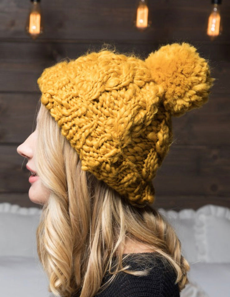 Monroe Chunky Knit Beanie - 3 Colors-Urbanista-Cute-Womens-Boutique-Clothing-Shop-Emporium B