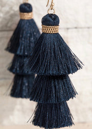 Alissa Tiered Tassel Earrings - 5 Colors-Urbanista-Navy-Cute-Womens-Boutique-Clothing-Shop-Emporium B