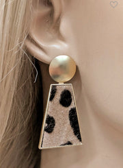 Louie Gold Leopard Print Earrings-Lucylou-Cute-Womens-Boutique-Clothing-Shop-Emporium B