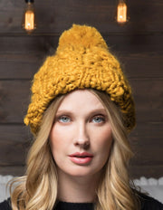 Monroe Chunky Knit Beanie - 3 Colors-Urbanista-Gold-Cute-Womens-Boutique-Clothing-Shop-Emporium B