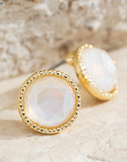 Stevie Round Earrings - 2 Colors-Urbanista-Cute-Womens-Boutique-Clothing-Shop-Emporium B