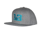 Heather Grey  Flat brim Snapback