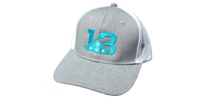 Heather Grey and Turquoise Mesh back Trucker style Richardson 112