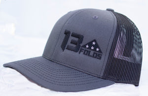 Charcoal/black snapback trucker Richardson 112