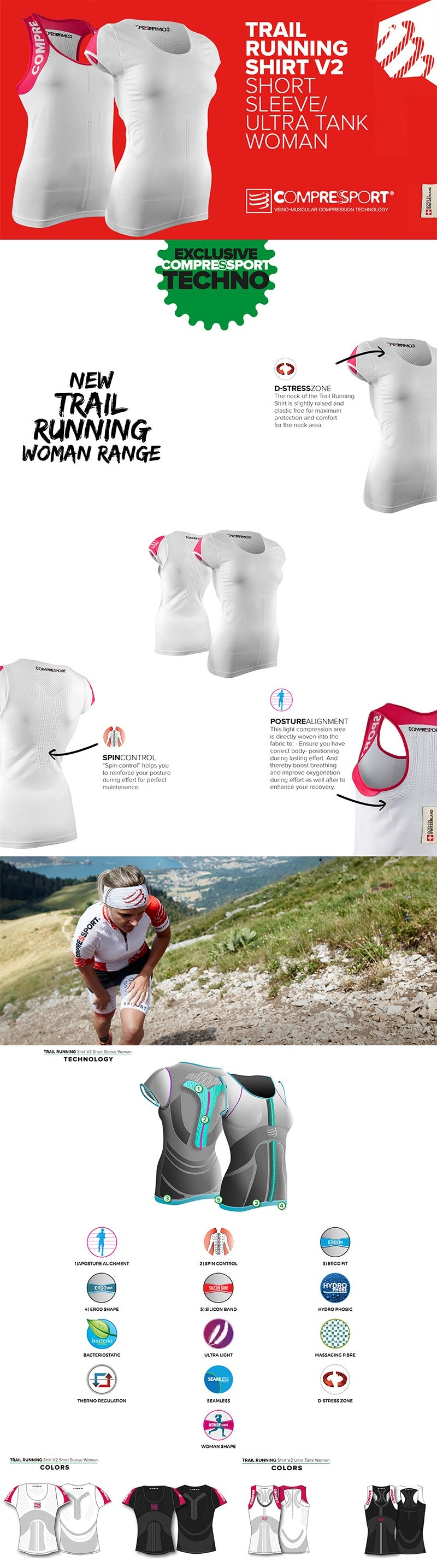 Compressport Woman Trail Running V2 Ultra Tank Top Product Details