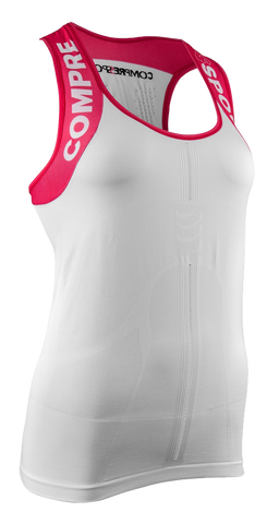 Compressport Woman Trail Running V2 Ultra Tank Top White