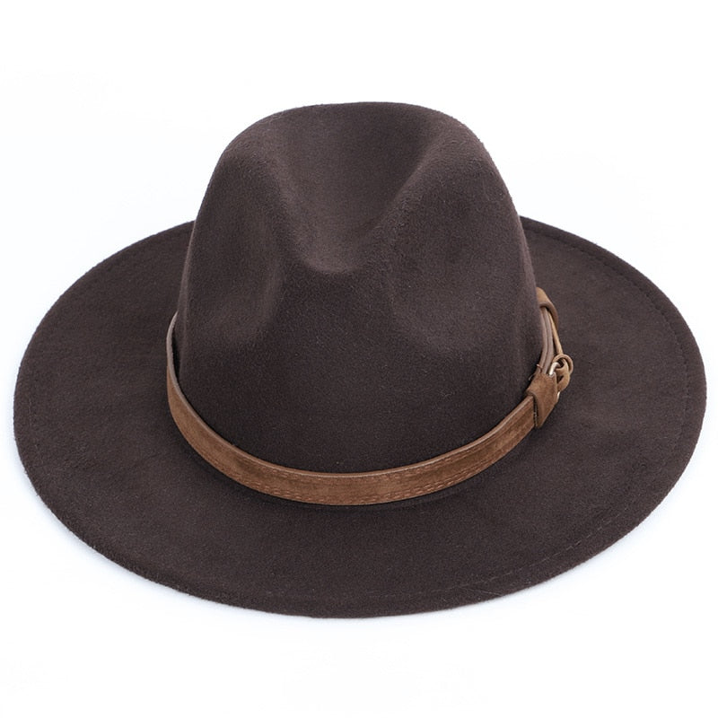 cdae5e794df96 Autumn winter wool men s fedoras women s felt hat Ladies sombrero jazz Male  bowler hat outdoor vintage