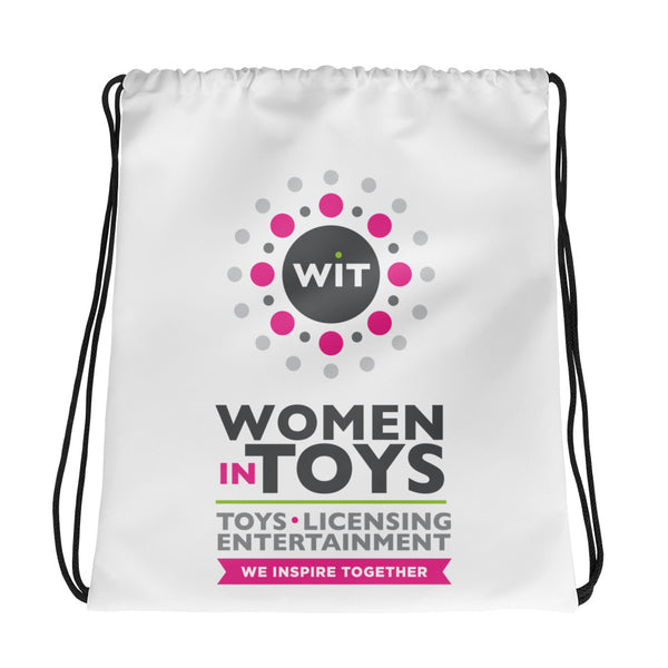 Women in Toys Drawstring Bag
