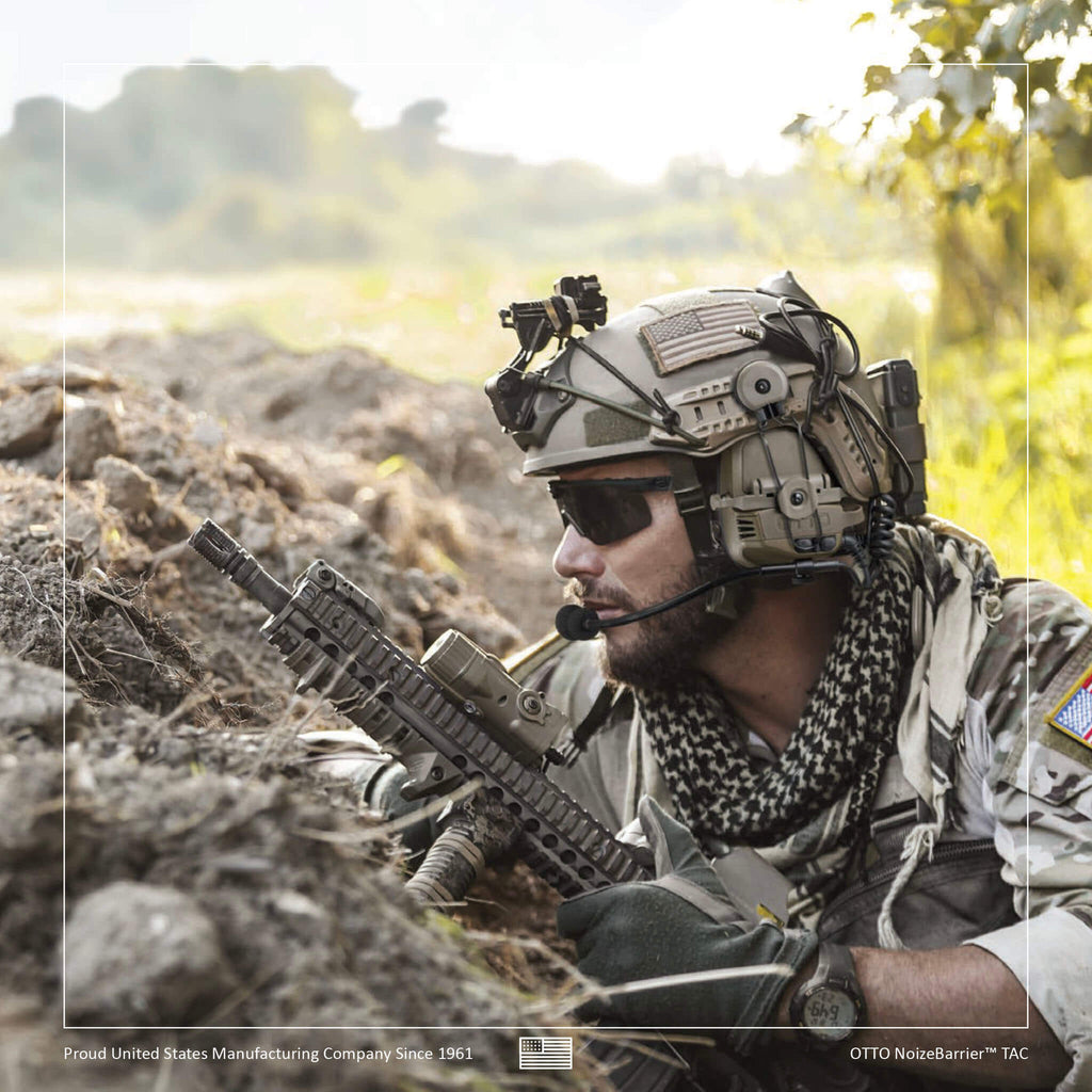 OTTO TAC NoizeBarrier Tactical Radio Headset w/ Active Hearing Protection -  Harris & M/A-Com Jaguar 700P, 700Pi, 710P, P5100, P5130, P5150, P5200, P7100, P7130, P7150, P7170, P7200, P7230, P7250, P7270 V4-11032FD V4-11032BK V4-11032OD V4-11033FD V4-11033BK V4-11033OD V4-11054BK V4-11055BK V4-11056BK V4-11058BK V4-11082BK