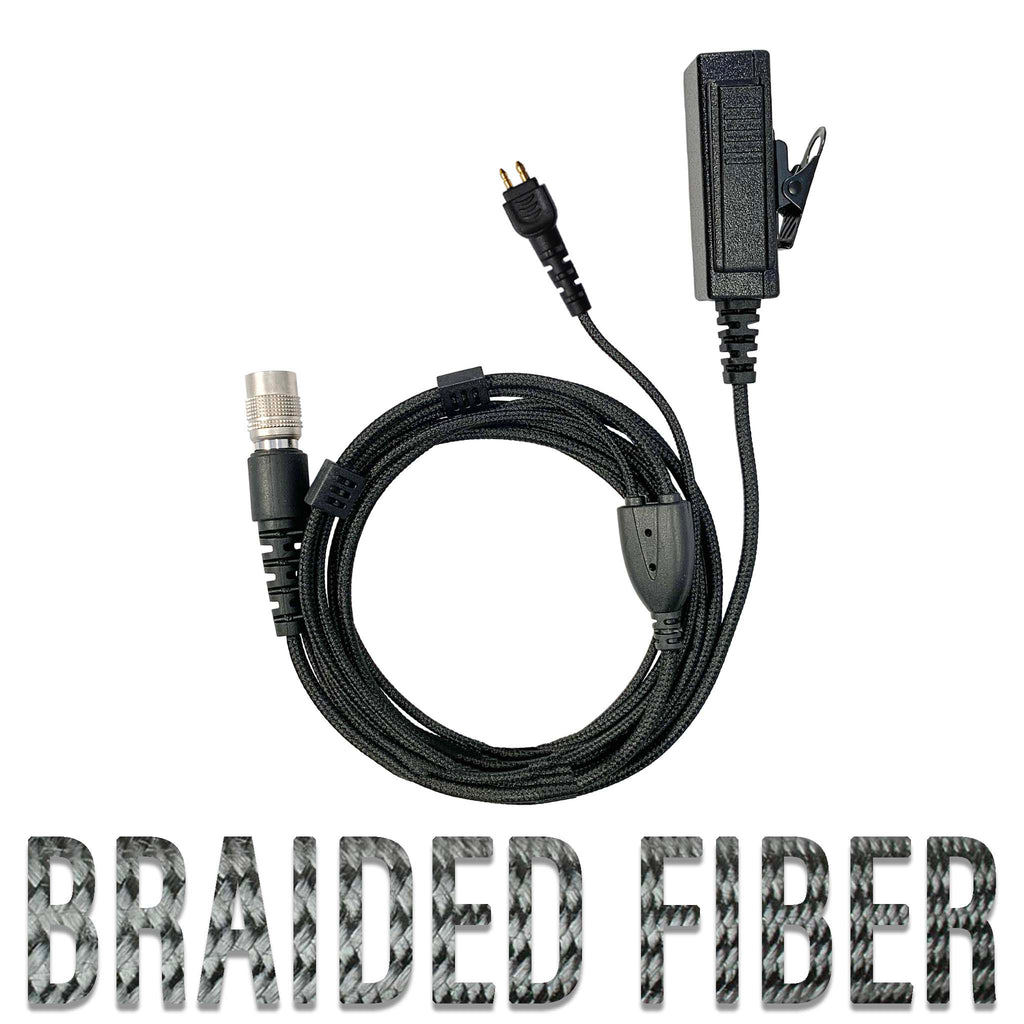 braided fiber mic earpiece radio kit