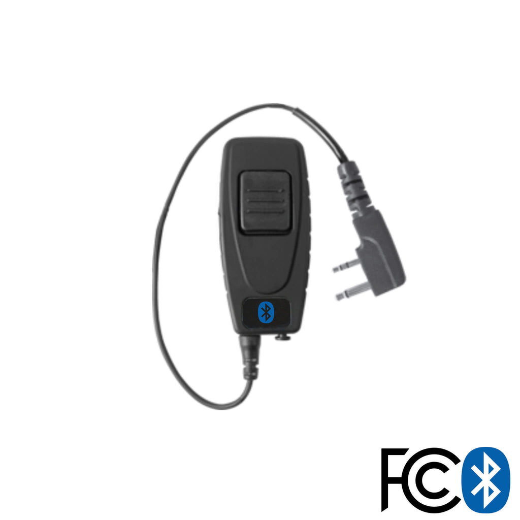 Bluetooth Radio Adapter For Mic/Earpiece: Icom: 2-Pin Connectors w/ Security Screws