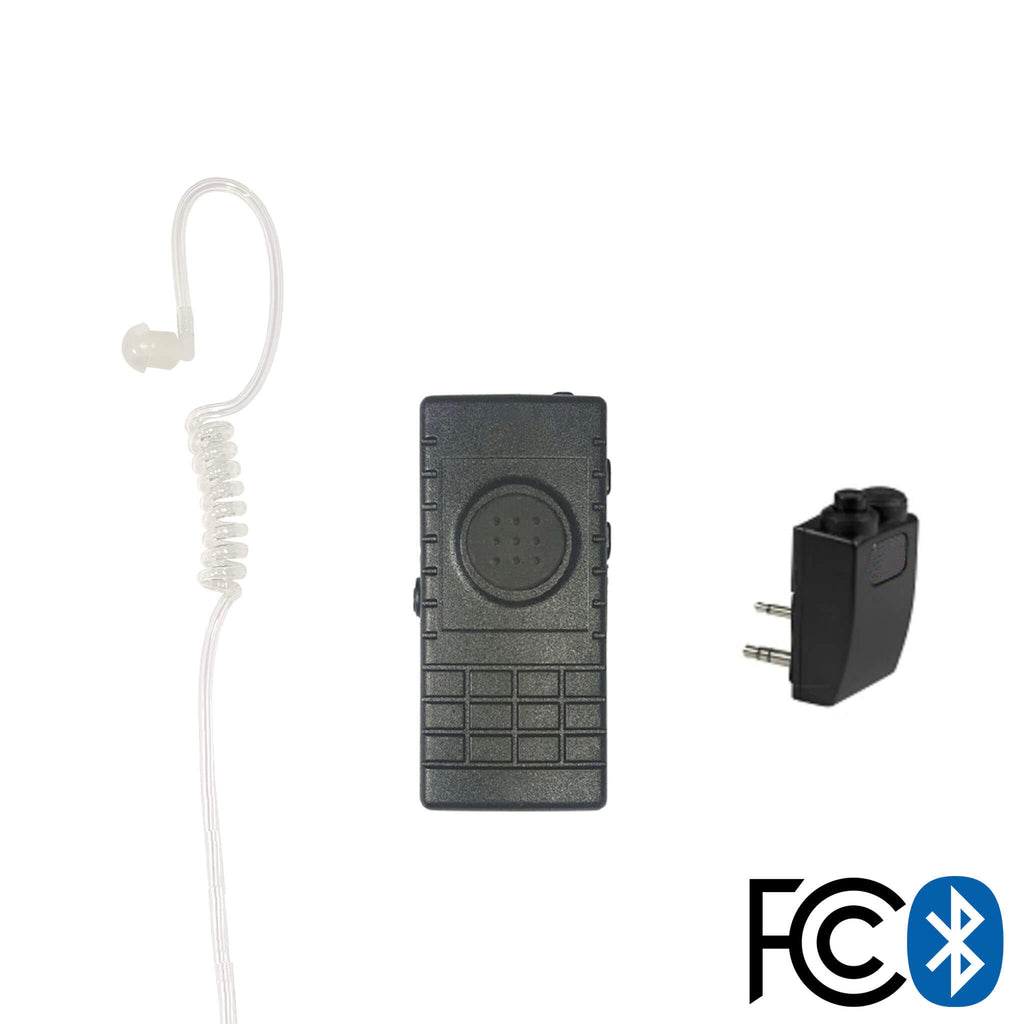 Bluetooth Lapel/Utility Mic & Earpiece Kit w/ Adapter For Kenwood: ONLY NX-220/240/320/340/420 and TK-2170/2173/2312/2360/2402/3170/3360/3402 pryme BTH-300-BT501D