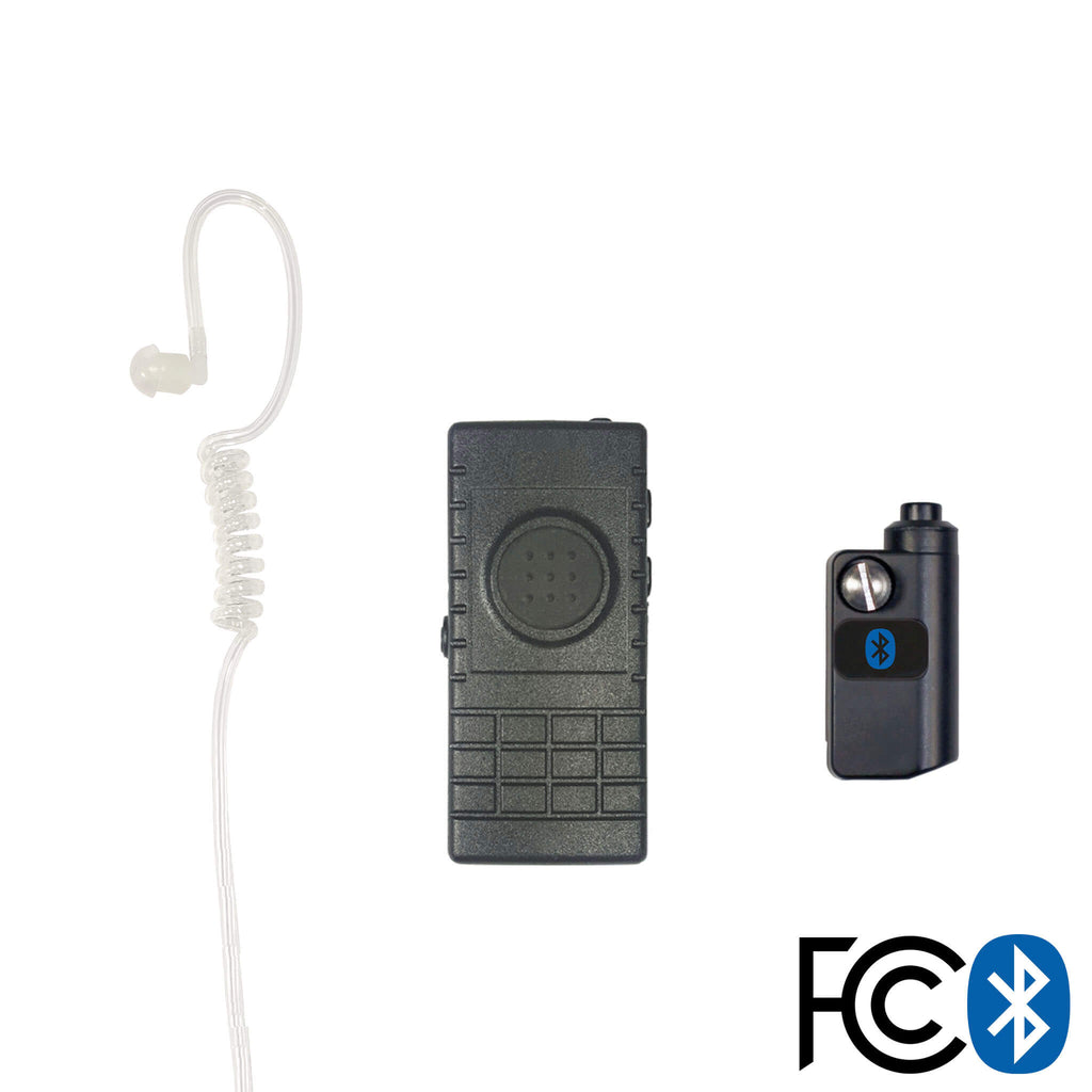 Bluetooth Lapel/Utility Mic & Earpiece Kit w/ Adapter For Icom: (iDAS) F3261/4261, F9011/9021 pryme BTH-300-BT-520