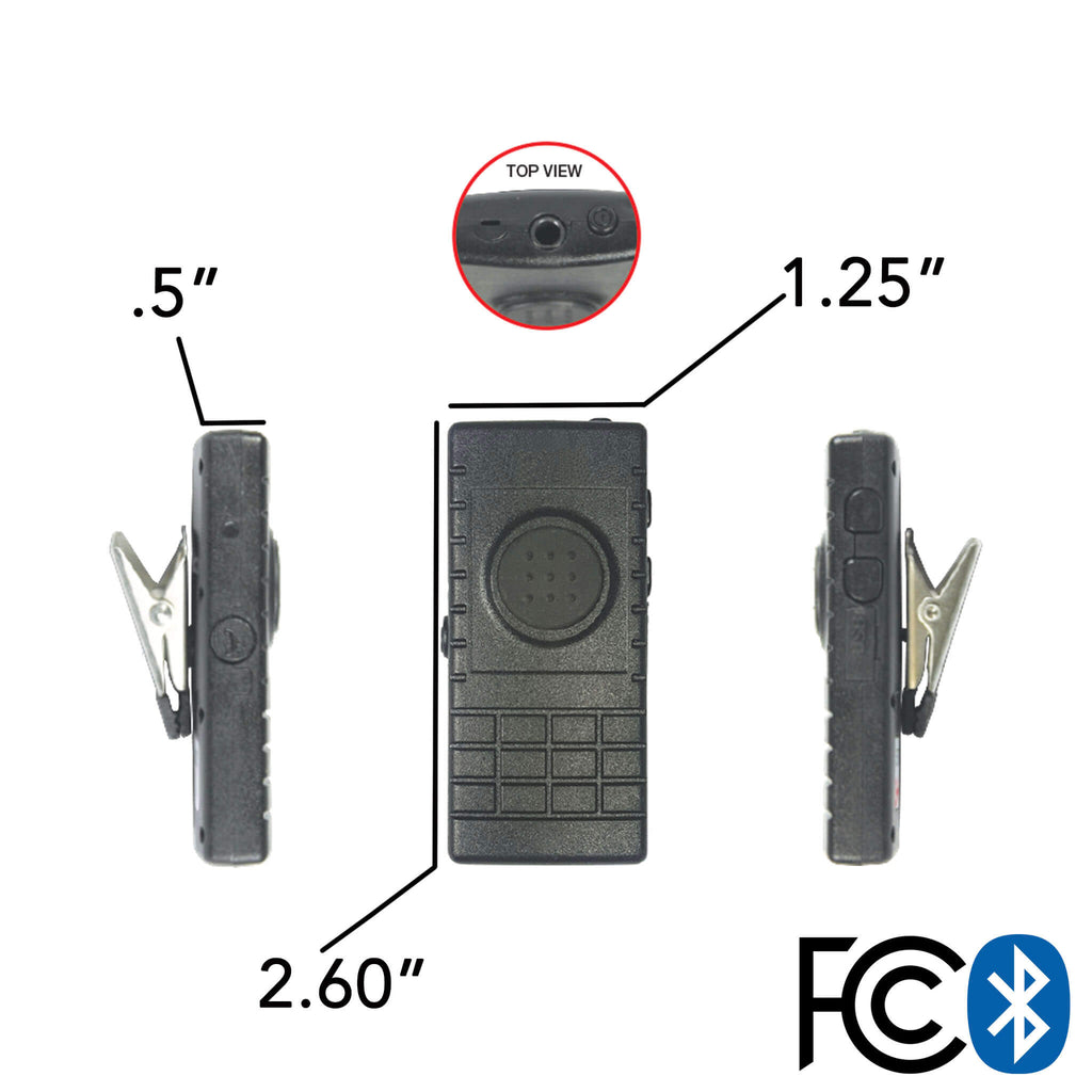 Bluetooth Lapel/Utility Mic & Earpiece Kit w/ Adapter For Kenwood: All Kenwood Multi-Pin TK & NX Series, EF Johnson VP5000 VP6000 BTH-300-BT-511 pryme