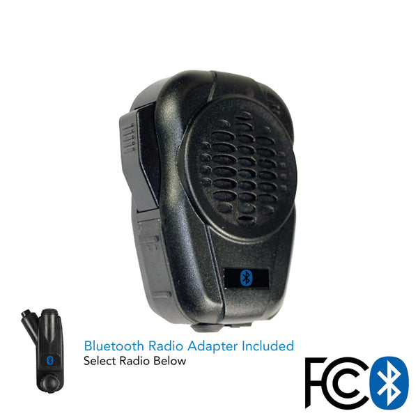 Bluetooth Speaker Mic W Adapter For 2 Way Radios Motorola Kenwood Comm Gear Supply