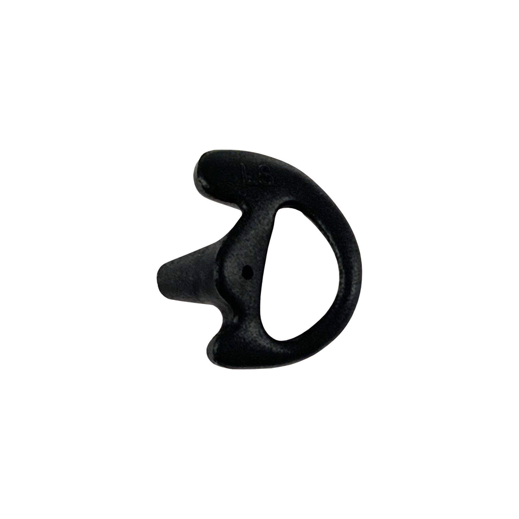 Black ear mold for radio earpiece