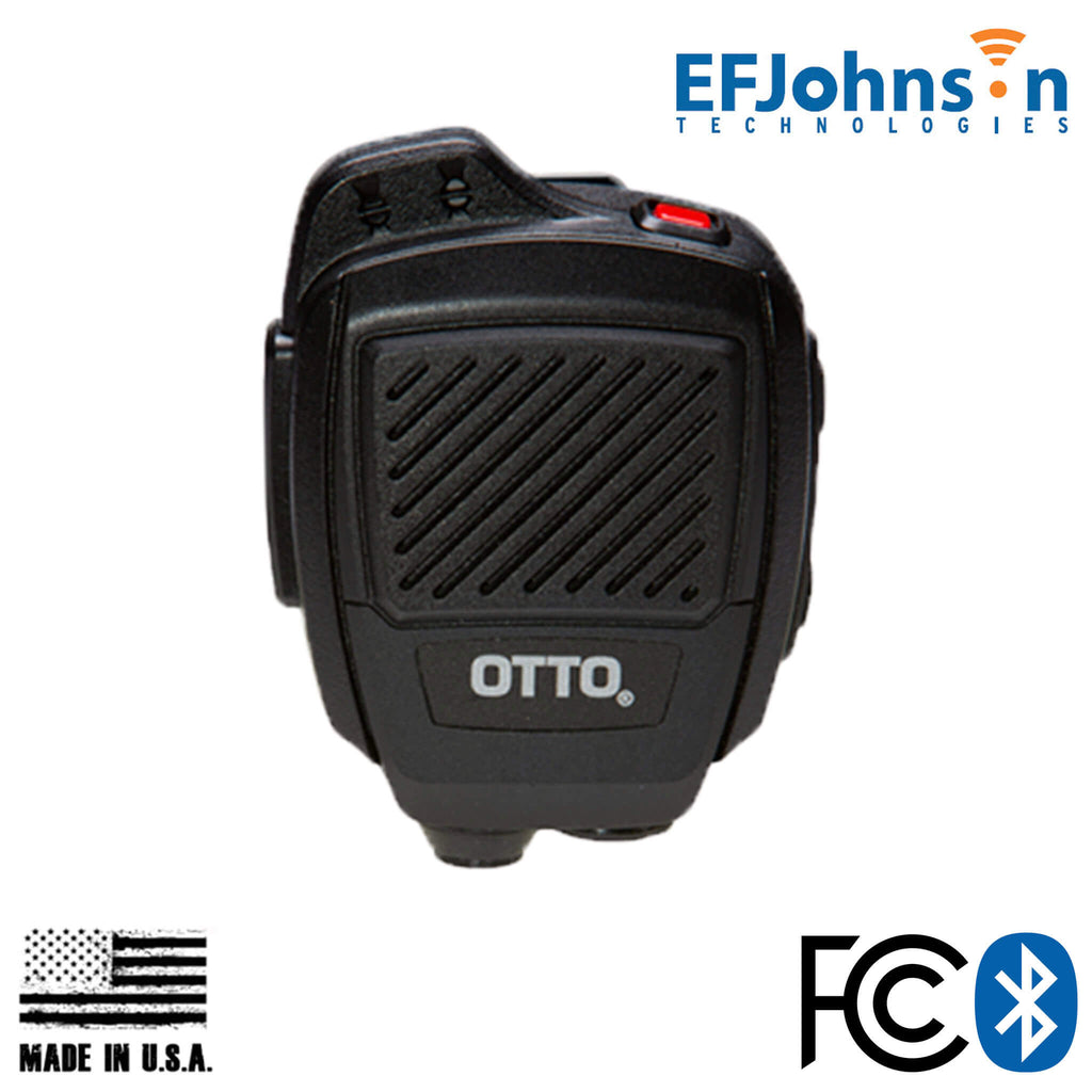V2-R2BT53133-A Bluetooth OTTO USA Made Speaker Mic For EF Johnson VP Series: VP600, VP900, VP5000, VP6000