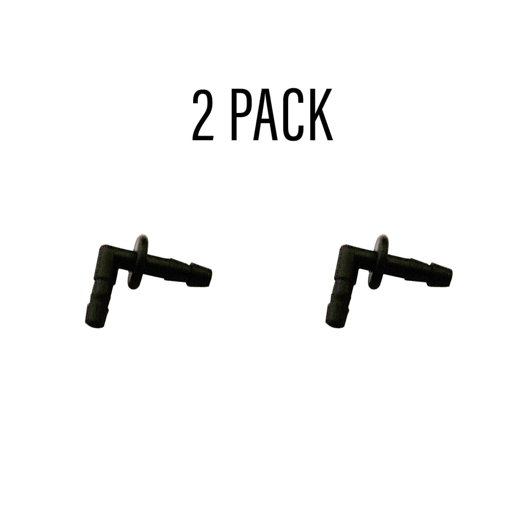 Black Ear Insert/Tube Connector - 2 Pack b-elbow