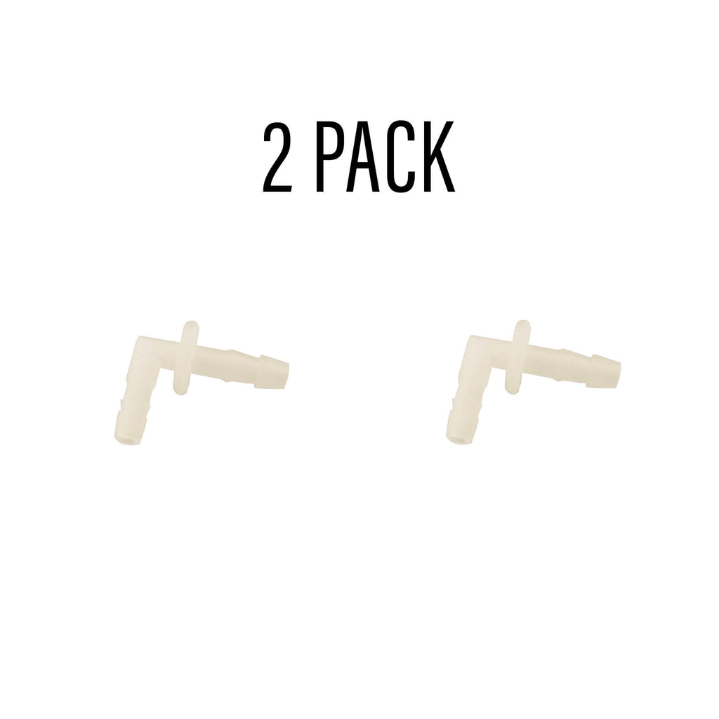 White Ear Insert/Tube Connector - 2 Pack c-elbow