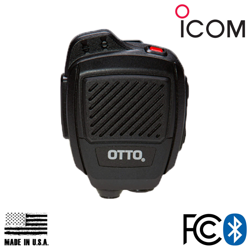 V2-R2BT53133-A Bluetooth OTTO USA Made Speaker Mic For Icom: F4400d, F7020, IP501H & more