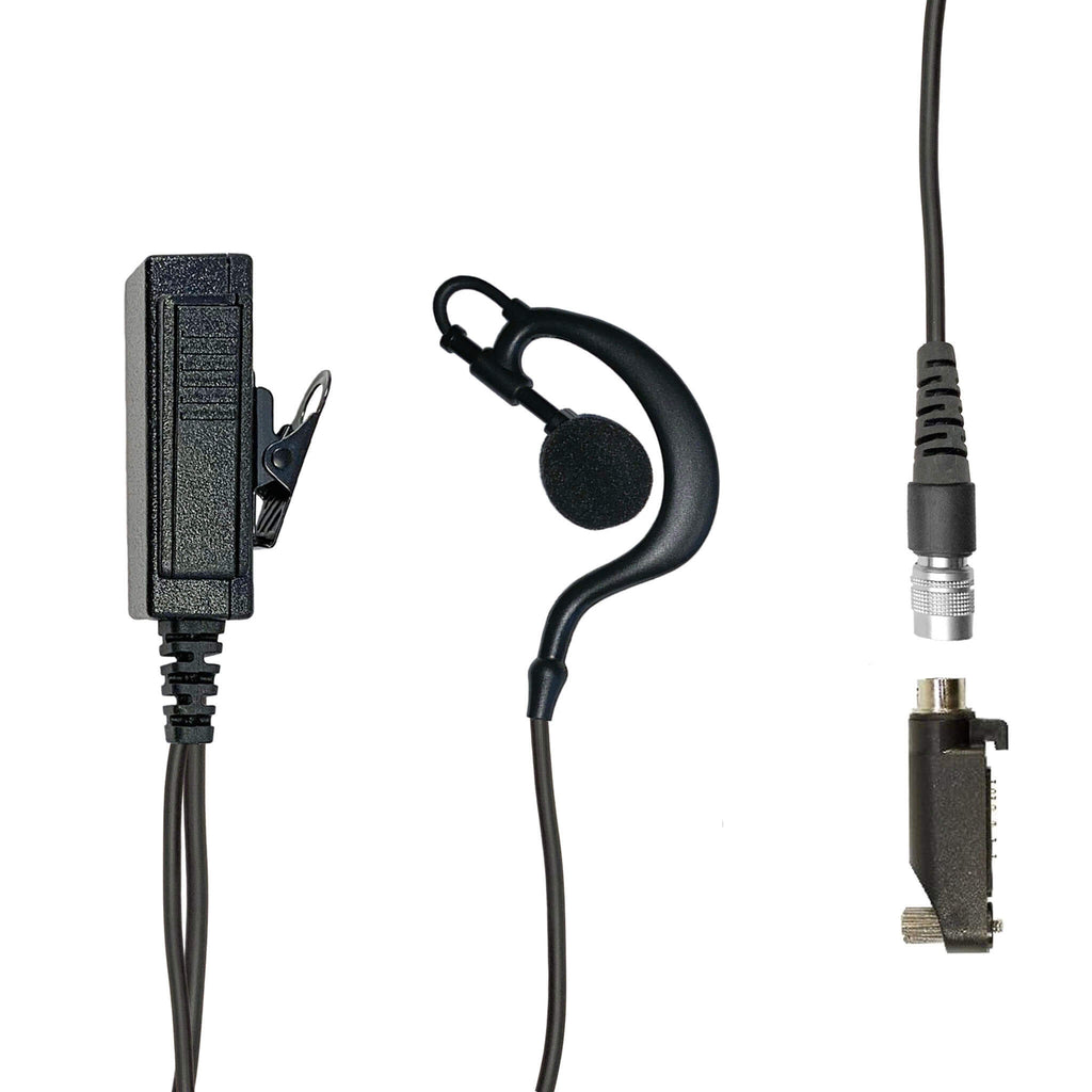 Mic & Ear Hook Earpiece Radio Kit - Harris HDP250 Momentum & DMR Series