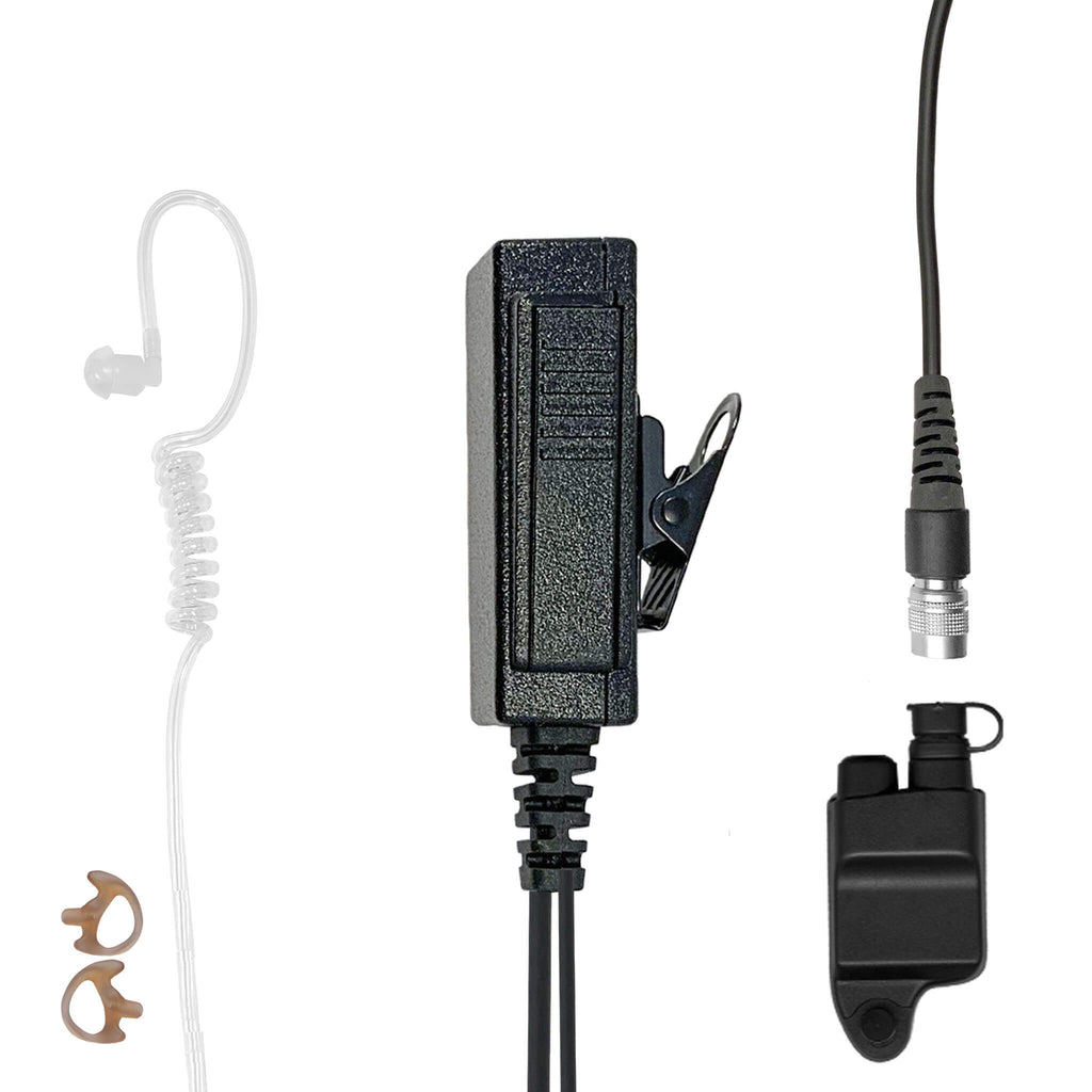 Mic & Earpiece Radio Kit - Quick Disconnect Harris &  M/A-Com 700P/Pi, 710P, P5100 / P7100 / P7200 Series & More
