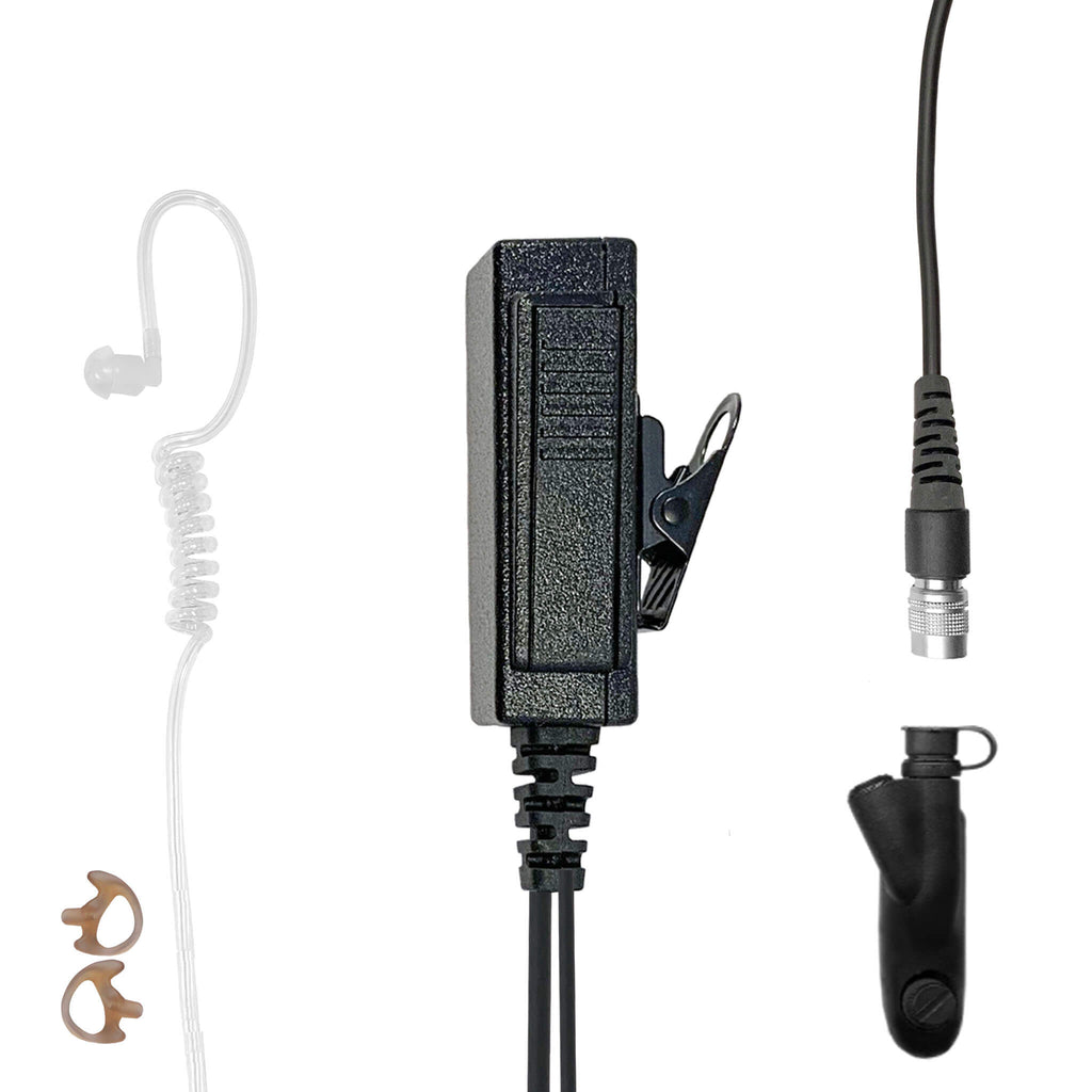 Mic & Earpiece Radio Kit - Quick Disconnect Motorola: HT750/1250/1550, MTX850/950/960/8250/9250, PR860 & More