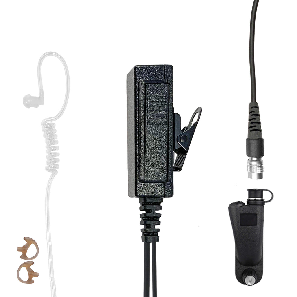 Mic & Earpiece Radio Kit - Quick Disconnect Motorola: APX (Apex) Series, XPR Series, SRX2200, & More