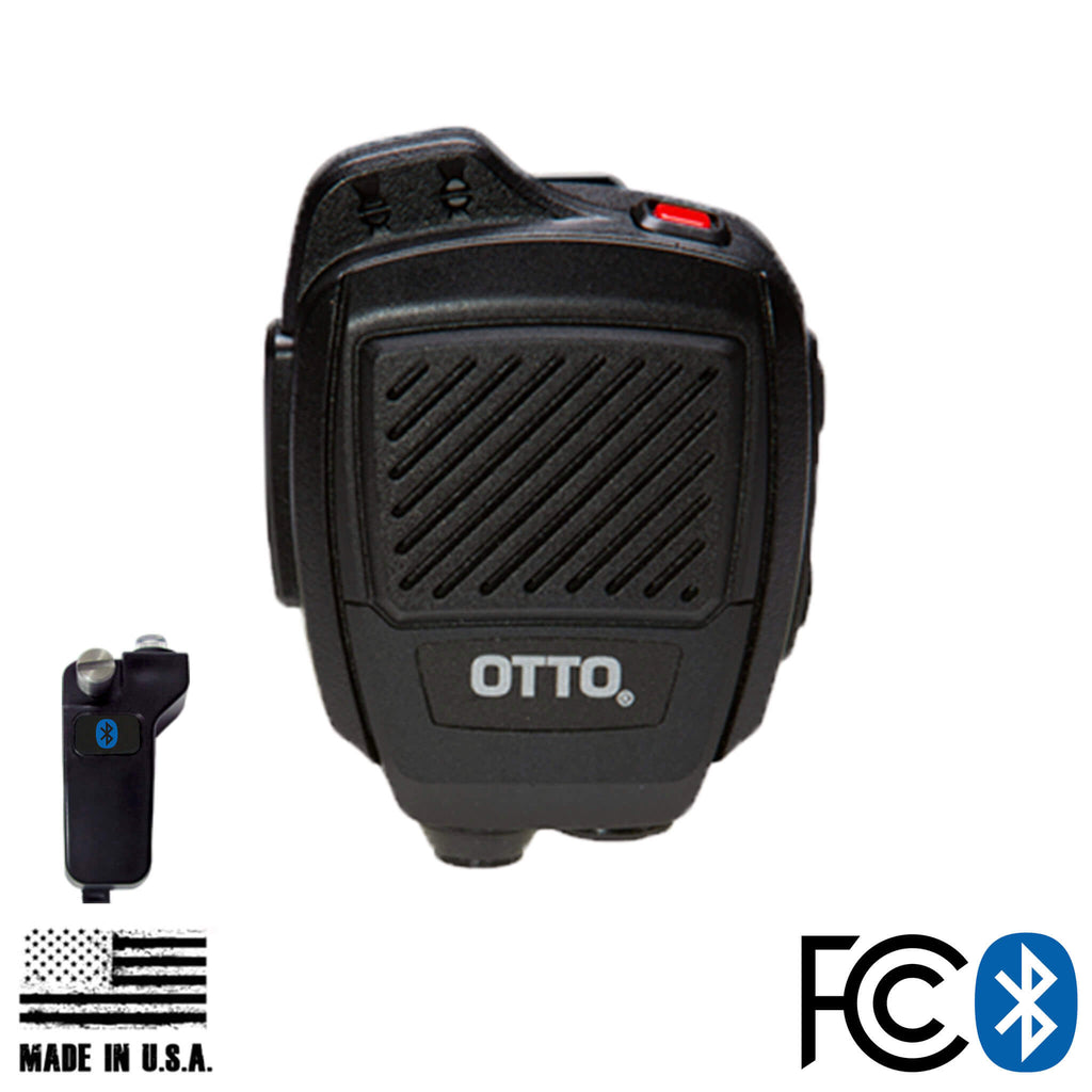 V2-R2BT53133-A Bluetooth OTTO USA Made Speaker Mic & Adapter For Kenwood: All Kenwood Multi-Pin TK & NX Series, EF Johnson VP5000 VP6000 Series  Edit alt text