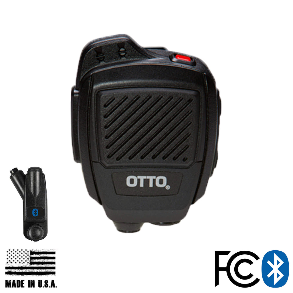 V2-R2BT53133-A Bluetooth OTTO USA Made Speaker Mic & Adapter For Motorola: APX (Apex) Series, XPR Series, SRX2200, & More